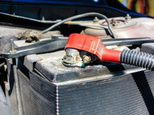 Corroded Car Battery Terminal