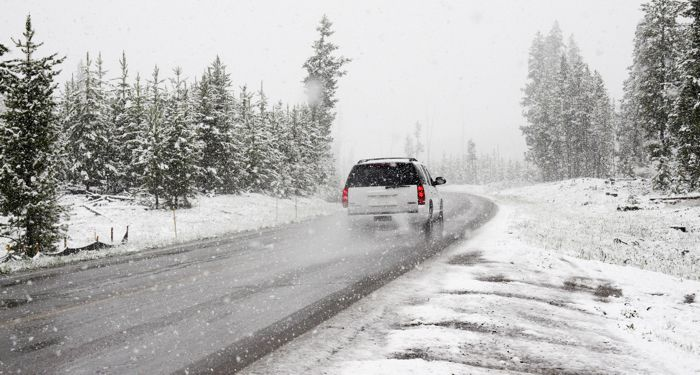Winter Driving SUV
