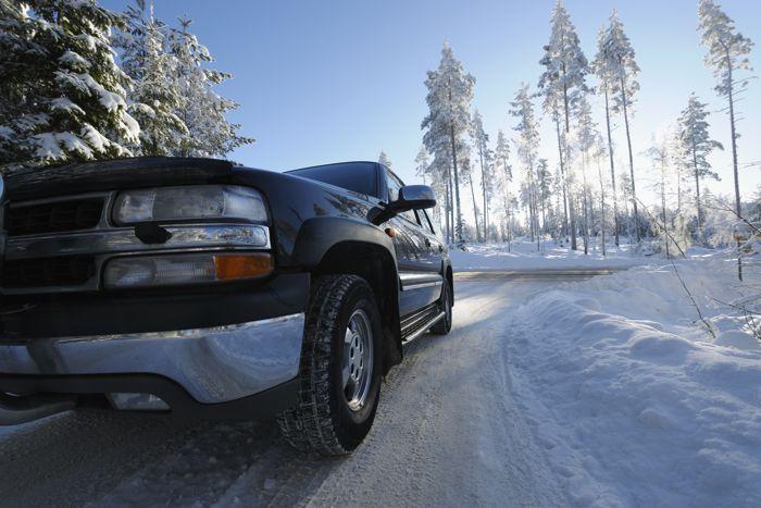 4 Wheel Driving Snowy Winter