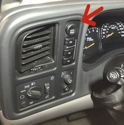 4x4 Transfer Case Switches Dash