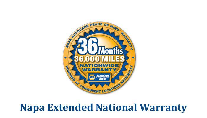 Napa 36 36 Warranty logo