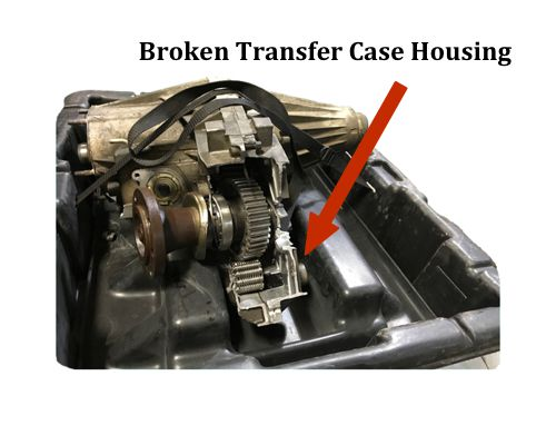 Broken Transfer Case Housing