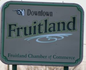 Fruitland Idaho sign