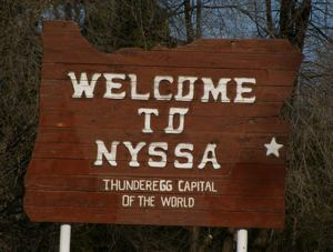 Nyssa Oregon sign