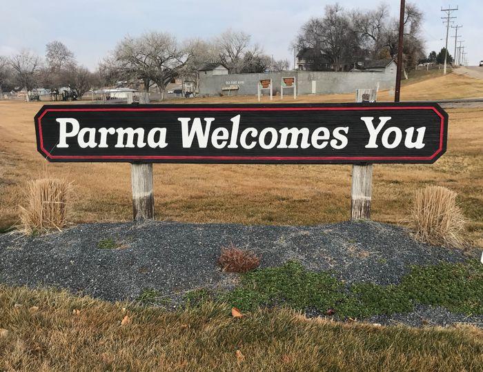 Parma Idaho sign